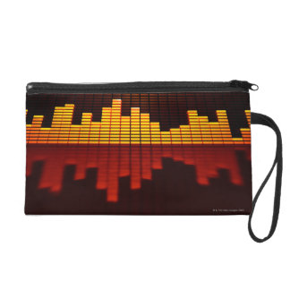 Graphic Equalizer Display Wristlet Purse