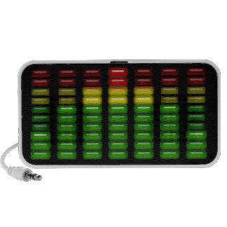 Graphic Equalizer in Bright Green Yellow and Red Mini Speaker