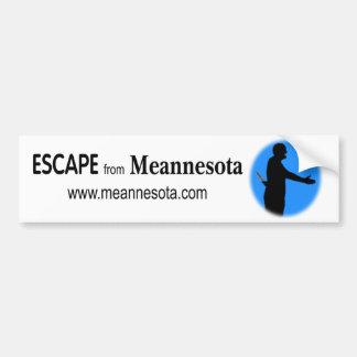 Graphic ESCAPE from Meannesota Bumper Sticker