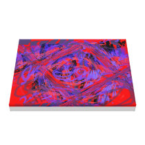 Graphic Explosion Wrapped Canvas