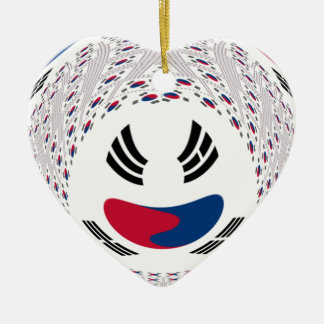 Graphic Flag Double-Sided Heart Ceramic Christmas Ornament