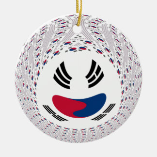Graphic Flag Double-Sided Ceramic Round Christmas Ornament