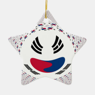 Graphic Flag Double-Sided Star Ceramic Christmas Ornament