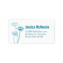 Graphic floral cows parsley reply address labels