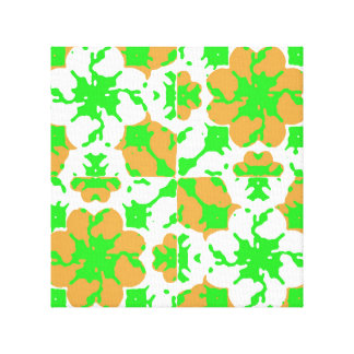 Graphic Floral Pattern Canvas Print