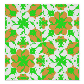 Graphic Floral Pattern Poster