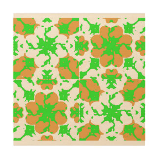 Graphic Floral Pattern Wood Wall Decor