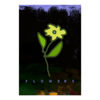 graphic flower décor-walls poster