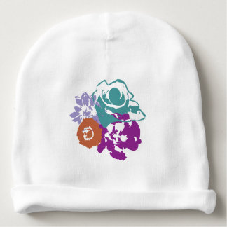Graphic Flowers Baby Beanie Hat