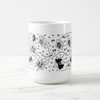 Graphic Flowers Coffee Mug