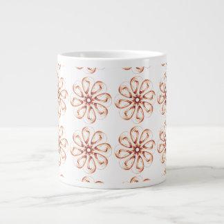 Graphic Flowers Large Coffee Mug