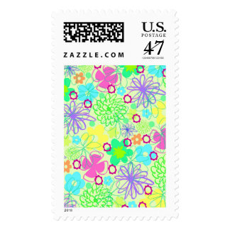 Graphic Flowers Postage