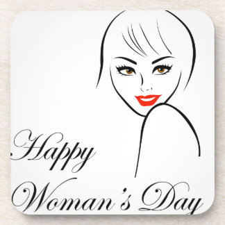 Graphic for womens day drink coaster