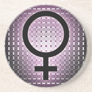 Graphic for Womens day Sandstone Coaster