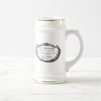 """Graphic French Ornament """"Le Monde"""" 18 Oz Beer Stein"""