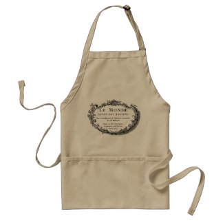 "Graphic French Ornament ""Le Monde"" Adult Apron"