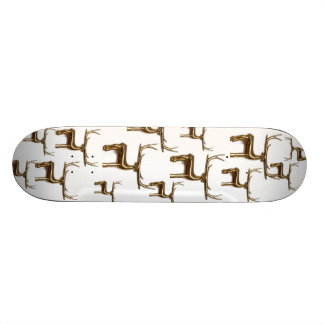 Graphic Golden Reindeer Pattern Skateboard Decks