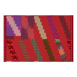 Graphic Golden Sparkle :  ART STRIPS COLLAGE Poster