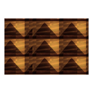 Graphic Golden Sparkle :  PYRAMIDS TRIANGLE ENERGY Poster