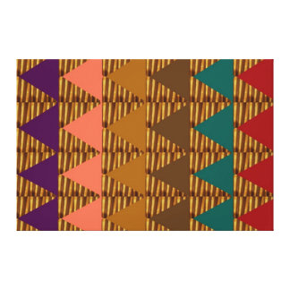 GRAPHIC Golden Triangle Formation Pattern Deco Canvas Print