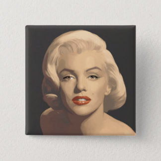 Graphic Gray Marilyn Pinback Button