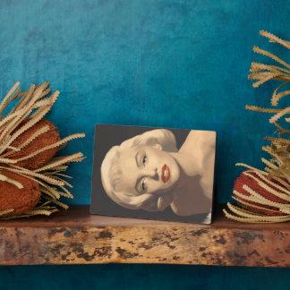 Graphic Gray Marilyn Plaque