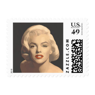 Graphic Gray Marilyn Postage