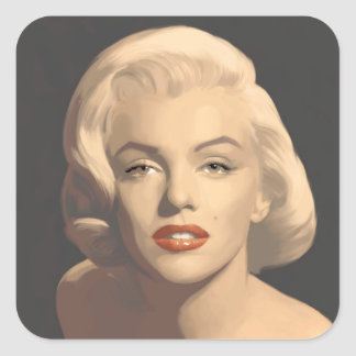 Graphic Gray Marilyn Square Sticker