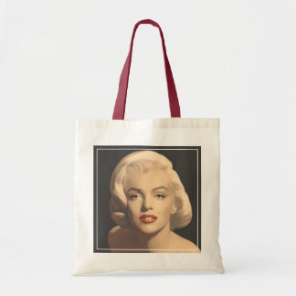 Graphic Gray Marilyn Tote Bag