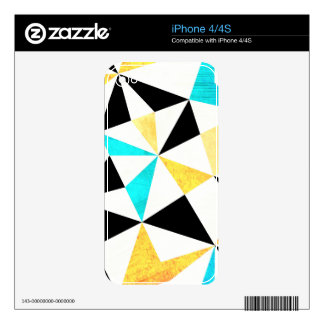Graphic Grungy Triangle Design Skin For The iPhone 4S