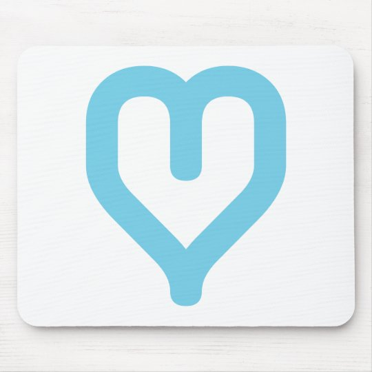 graphic heart-blue mouse pad