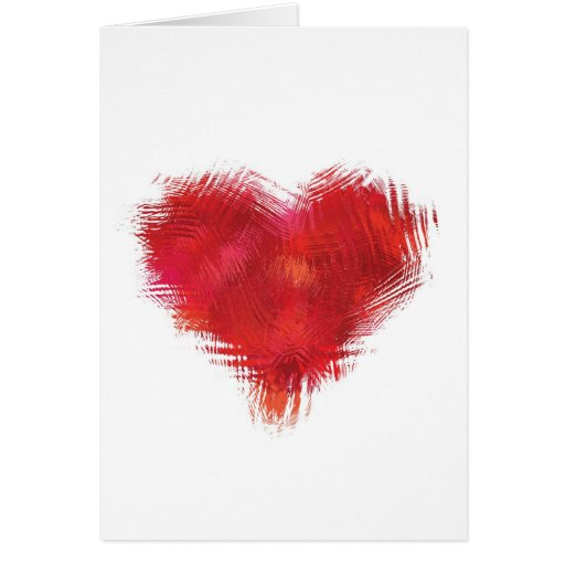 Graphic heart greeting card