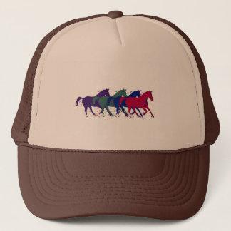 graphic horses running trucker hat