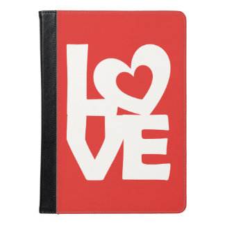 Graphic Illustration I love You with heart on red iPad Air Case