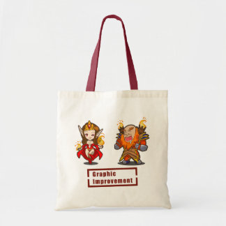 Graphic improvement tote bag