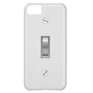 Graphic Light Switch ON Cover For iPhone 5C