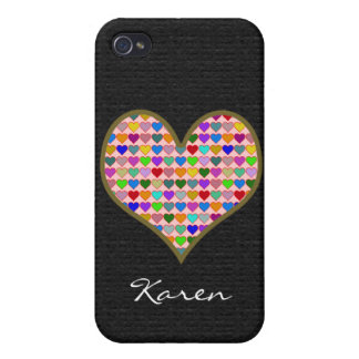 graphic love heart to add name iPhone 4 case