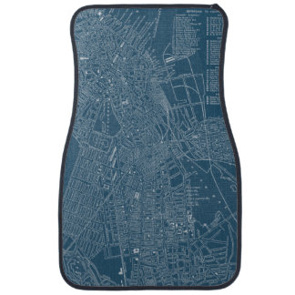 Graphic Map of Boston Car Mat