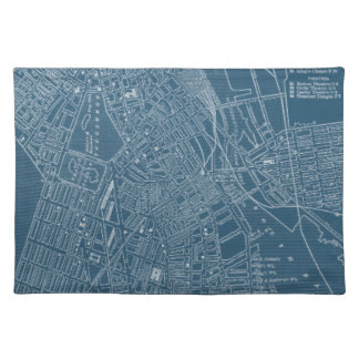 Graphic Map of Boston Cloth Placemat