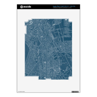 Graphic Map of Boston Decal For iPad 3