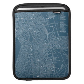 Graphic Map of Boston iPad Sleeve