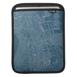 Graphic Map of Boston iPad Sleeve