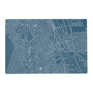 Graphic Map of Boston Placemat