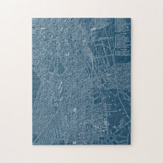 Graphic Map of Boston Puzzle