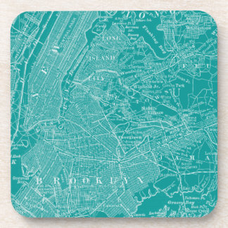 Graphic Map of New York Drink Coaster