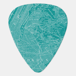 Graphic Map of New York Guitar Pick
