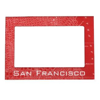 Graphic Map of San Francisco Magnetic Frame