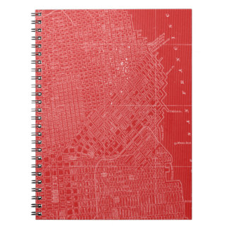 Graphic Map of San Francisco Notebook