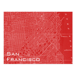 Graphic Map of San Francisco Postcard