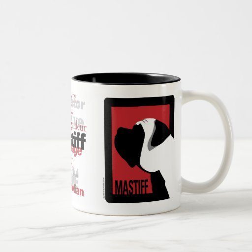 Graphic Mastiff Mug